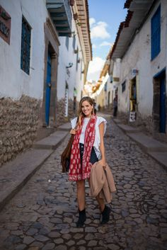 Cusco, Peru, wearing Isabel Marant top and boots