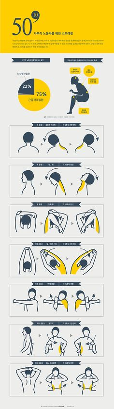 Infographic Design Inspiration Stretching for white collar worker Information Design, Information Graphics, Web Design, Icon Design, Creative Design, Layout, This Is A Book, Design Graphique, Pictogram