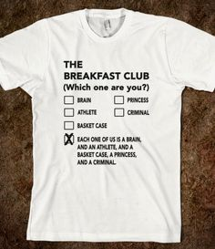 The breakfast club essay graphic