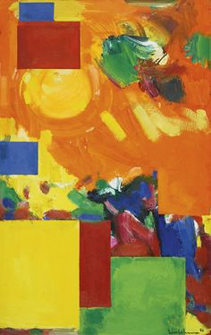 "Hans Hofmann (1880-1966)  was a German-born American abstract expressionist painter. Hofmann's art work is distinguished by a rigorous concern with pictorial structure, spatial illusion, and color relationships.His completely abstract works date from the 1940s. Hofmann believed that abstract art was a way to get at the important reality. He famously stated that ""the ability to simplify means to eliminate the unnecessary so that the necessary may speak""."