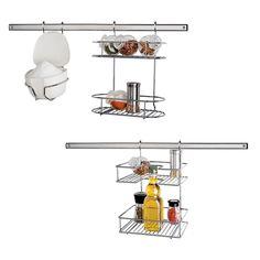 Suporte Para Cozinha Euro Home Kit Flash Aço Cromado e Inox - 6 Peças - Cozinha no Pontofrio.com