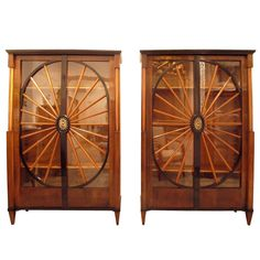 Pair Of Stunning Early Biedermeier Bookcases