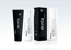 ECODENTA Black and White Toothpastes on Packaging of the World - Creative Package Design Gallery