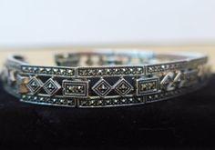 Vintage Art Deco Edwardian Silver Bracelet by FourthEstateSale, $55.00