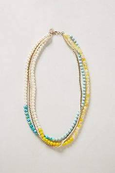 Lime Blossom Necklace #anthropologie