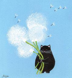 dandelion black cat - Szukaj w Google