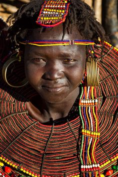 Africa | Girl from the Pokot tribe.  Kenya | © Johan Gerrits