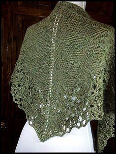 """Cicada Shawl"" knit in 100% Peruvian Highland wool sport weight yarn (pattern by Toby Roxane Barna)"