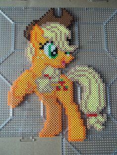Applejack Perler beads by *The-Original-Kopii on deviantART