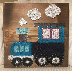 Custom Train String Art Nursery Decor Boy Room by KiwiStrings