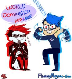World Domination with Red and Blue Googleplier by FloatingMegane-san on DeviantArt