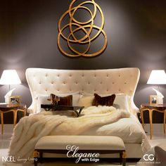 Impossible is Nothing.Inspiration is Everything! Christopher Guy Furnishings is this January's featured collection at Noël. Christopher Guy, Luxury Living, Nightstand, Love Seat, Master Bedroom, Wall Decor, Couch, Contemporary, Inspiration