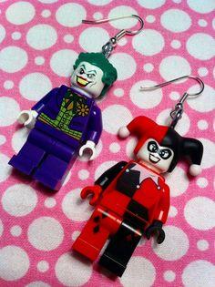 LEGO The Joker & Harley Quinn Dangle Earrings