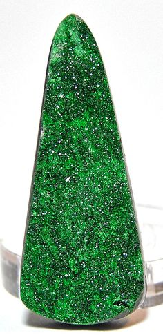 Deep Green Russian Uvarovite Garnet on Chromite by FenderMinerals