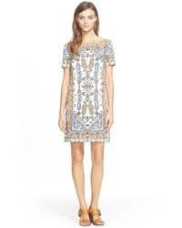e2fe3aaad72 Image result for 2015 tory burch print short sleeve dress