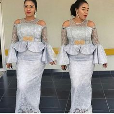 Hello Ladies Here are lovely Ankara and Aso Ebi Styles : Beautiful Collection For You that you surely like to rock them to you upcoming ownmbe party. African Lace Styles, African Lace Dresses, African Fashion Dresses, African Clothes, African Attire, African Wear, African Women, African Beauty, Cord Lace Styles