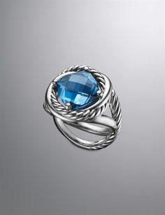 David Yurman | Women | New Arrivals: Infinity Ring, London Blue Topaz