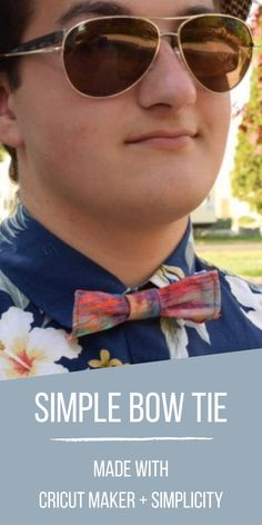 This DIY bow tie is made using the Cricut Maker and a Simplicity pattern. Using this method, you will be able to create a new bow tie in no time! Sewing Blogs, Sewing Hacks, Sewing Tutorials, Sewing Projects, Simple Diy, Super Simple, Kids Clothes Boys, Boys Bow Ties, Diy Bow
