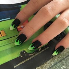 127 awesome acrylic coffin nails designs in summer -page 19 > Homemytri.Com – Trendy Nails Summer Acrylic Nails, Best Acrylic Nails, Black Acrylic Nails, Nail Swag, Aycrlic Nails, Manicure, Coffin Nails, Punk Nails, Stylish Nails
