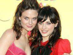Zooey Deschanel & Emily Deschanel ~ I had no idea these two were sistahs!