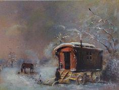 Gypsy Caravan, Gypsy Wagon, Gypsy People, Caravans, Live Life, Painting, Image, Art, Art Background