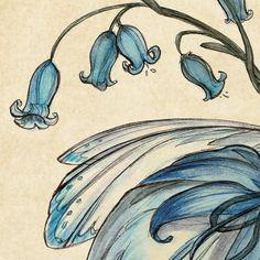 Hadas de verano  Bluebell: Impresión del arte