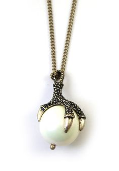 Punk Dragon Claw Catch The Ball Chain Necklace. Just bought this i loved it so much!!