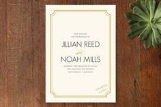 Modern Classic Save the Date Cards by annie clark at minted.com