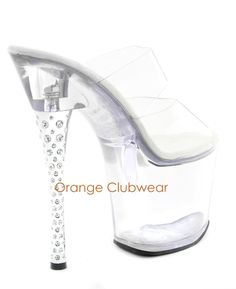 clear stripper heels | ... Stiletto Clear Stripper Sexy Platform High Heels Shoes | eBay