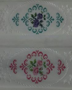 This Pin was discovered by Hav Palestinian Embroidery, Bargello, Diy Arts And Crafts, Cross Stitching, Needlework, Elsa, Embroidered Towels, Bath Linens, Cross Stitch Patterns