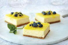 Barres de gâteau au fromage et au citron