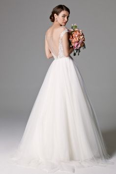 """Watters """"Skye"""" (back view). A-Line. Brides Skye Gown (unlined) Style 8092B 