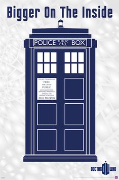 DOCTOR WHO POSTER ~ TARDIS BIGGER ON THE INSIDE 24x36 DR TV Police ...