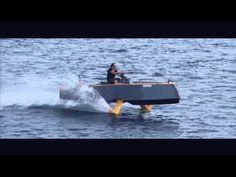 Hydros retractable hydrofoil boat | wordlessTech