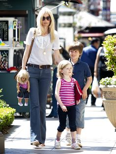 claudia schiffer  kids... So cute the doll has same outfit like her daughter...
