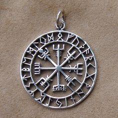 Vegvisir Runen Anhänger Wikinger Schmuck 925 Silber Schmuck aus 925/000 Silber online bestellen
