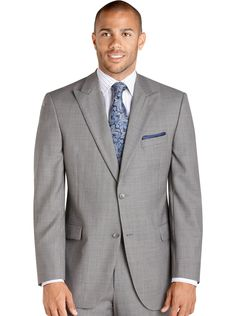 af4169e370409 Suits - Jack Victor Select Label Gray Check Suit - Men s Wearhouse