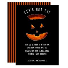 #Adult Halloween Party Invitations - #Halloween happy halloween #festival #party #holiday