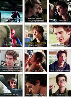 "The Amazing Spiderman's best lines. ""Chocolate house"" is my favorite haha :)"