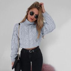 bf3701c4612 Autumn Knitted Long Sleeve Sweater Crop Top STYLEBUY™ WHOLESALE Wholesale  Clothing Supplier Sign up to