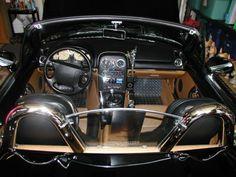 Stanley F seriously upgraded the audio in his wife's 1994 Mazda Miata with gear purchased from Crutchfield. #Alpine #Infinity #Dynamat #StreetWires #CarAudio #Mazda #Miata