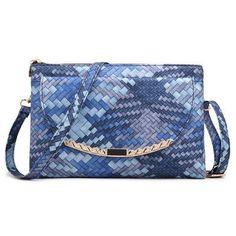Colorful Knitting Handbags Women Messenger Bags Envelope Clutches Women Purse and Handbag with Long Strap Over Shoulder Bag