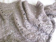 PDF Knitting Pattern Into The Woods Lace Knit by PoshKnitStore