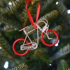 Pedal Metal Bike Ornament // Perfect Christmas Gift Idea for Dad // Fair Trade + Handmade Holiday
