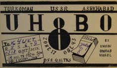 QSL Card: Radio Contact with Turkoman Republic, Soviet Union, in 1962