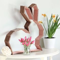 With that adorable fluffy tail, it's pretty hard to resist this easy Easter bunny craft made from popsicle sticks.