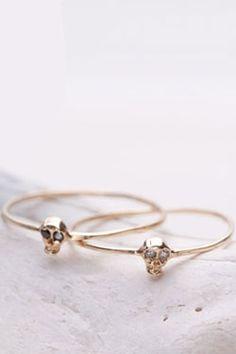 tiny skull rings