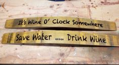 Wine Barrel Staves Live Laugh Love Save Water by FraserWineArt