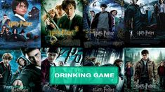 Have you seen all of the Harry Potter movies? or do you wanna rewatch them agian? Worry not, we have made a drinking game for each Movie in the Harry. Harry Potter Movies Ranked, Harry Potter Movie Posters, Harry Potter Books, Harry Potter Marathon, Film Movie, Series Movies, Series 3, Epic Movie, Movie List
