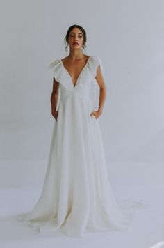 Ethereal, unique wedding gowns by Leanne Marshall featuring signature watercolor and hand-dyed dresses . Fair-trade and sustainably made made in USA Ethereal Wedding Dress, Dream Wedding Dresses, Wedding Gowns, Lace Wedding, Leanne Marshall Wedding Dresses, Alta Moda Bridal, Making A Wedding Dress, Weeding Dress, Traditional Wedding Dresses